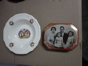 !937 Coronation Bowl  and 1930's Riley's Toffee Tin