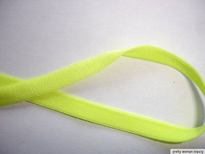10m Gummiband 0,35€/m neongelb  5mm breit TA19