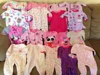 Baby girl clothing lot 0-6 months 70 pieces