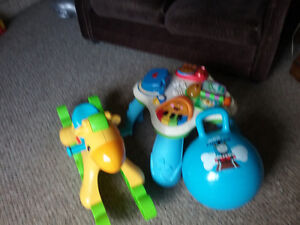 Musical Rocking Horse, Activity table and Thomas bouncy ball