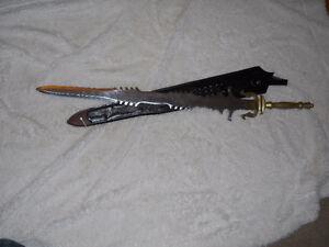 brass handle sword