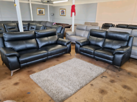Brand new ex display Furniture Village powered electric recliner sofas