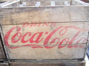 1960's Coca Cola Bottle Case w 12 26oz bottles Old Store Stock