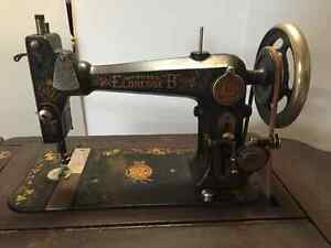 1890's Eldredge B Treadle Sewing Machine in cabinet Strathcona County Edmonton Area image 1