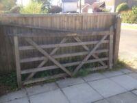 8ft timber 5 bar gate