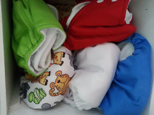 24 Cloth Diapers + 4 Pack Liners & 2 Wet Bags