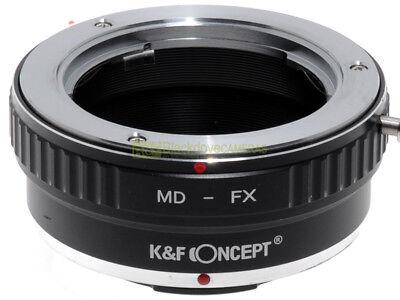 Anello adapter per montare ottiche Minolta MD su corpi Fuji X.