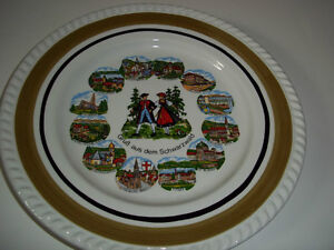 """Vintage Collector Plate Greetings from the Black Forest 9 1/2"""""""