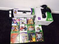 Xbox 360 4 GB, Kinect, 11 games and accessories.