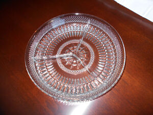 Divided Glass Serving Platters / Relish Dishes