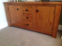 Mexican pine sideboard unit