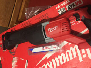 Brand New Never Used Milwaukee 18m, Heavy Duty Sawzall,Tool only