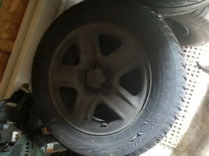 Toyota Sienna rims and tires - 17 inch winter set
