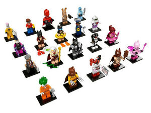 The Batman movie Lego mini-figure complete set