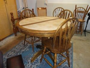 Ceramic Maple Table with 6 chairs