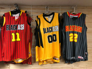 Black Ash custom basketball jersey, clothing, and sportswear