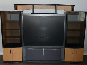"""Sony tv 61"""" with wall unit"""
