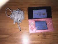 Nintendo 3DS pink with official charger fantastic condition