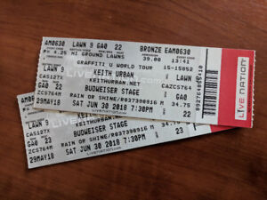 Keith Urban: Graffiti U World Tour Toronto June 30th LAWN TICKET