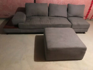 couch/sofa Costco high quality sectional with ottoman side table
