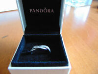 Pandora Sterling silver twist of fate ring. worn once.