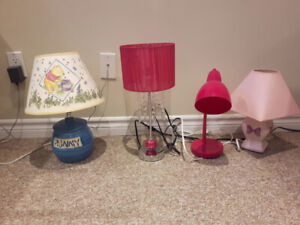 Various Children's Lamps