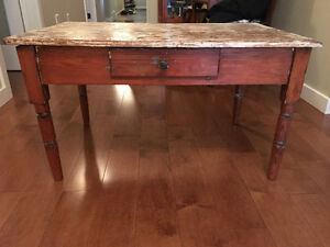 Authentic distressed coffee table