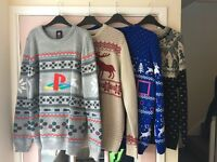 X4 Christmas Jumpers men's large