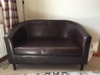 2 seater settee and tub chair