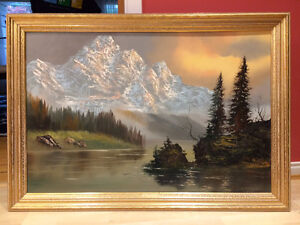 "J Greco Oil Painting in 24"" x 36"" frame"