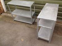 Metal shelves/garage/shed