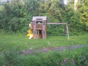 Wooden playhouse structure