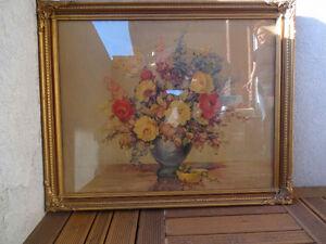 Les fleurs de VA Richardson. Cadre avec vitre.
