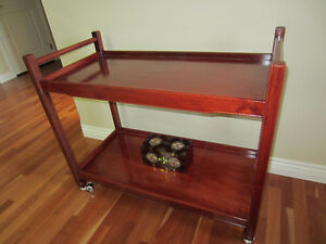 Rosewood Bar Cart / Tea Trolley / Entry Table