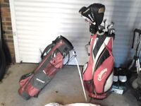 Hill Billy golf trolley and battery and charger plus others