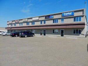 4 upscale offices HWY 16A paved parking secure Stony Plain