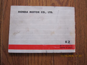 1972 Honda CB 350 Owners Manual Sarnia Sarnia Area image 2