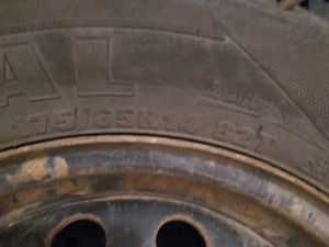 4 winter tires on rim- very good condition