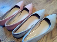 2 pairs of size 5 brand new flat shoes
