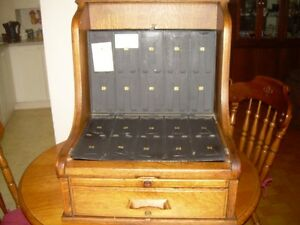 Solid Oak Mercantile Cash Drawer / Cash Register