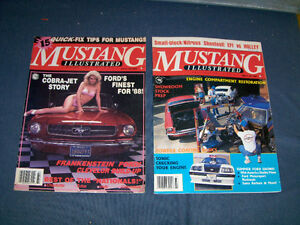 MUSTANG ILLUSTRATED-1987/88-2 ISSUES-COBRA JET-SUMMER FORD+