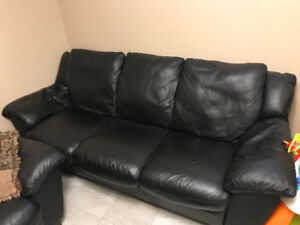 Couch and love seat for sale real Italian leather both pieces