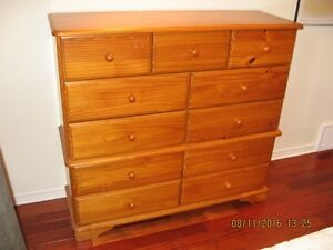 Classic pine dresser and matching night table