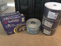 Blank DVDs and CDs brand new