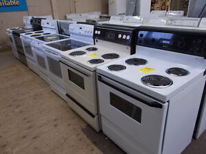 Stoves large selection all with 90 day warranty. $199 and up.