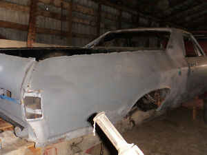 chevelle 1971 el camino frame - shell- pieces