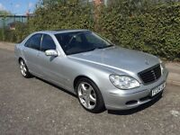 ***MERCEDES BENZ S500 S-CLASS SAT NAV FULL MERC HISTORY*** £2999! *WARRANTIES*