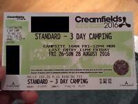 Creamfields 3 Day Standard Camping Ticket