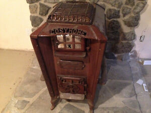 Antique Happy Thought Range Furnace / woodstove