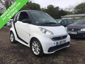 2013 63 SMART FORTWO 1.0 PASSION MHD 2DR AUTO 71 BHP